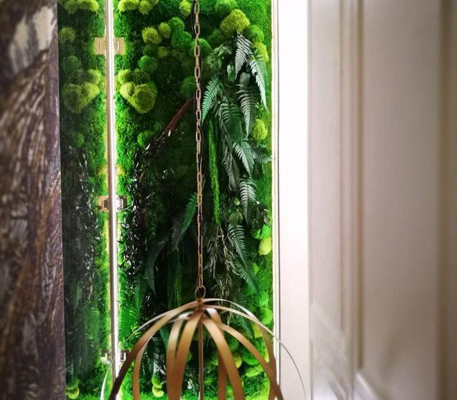 Zielona ściana rośliny stabilizowane