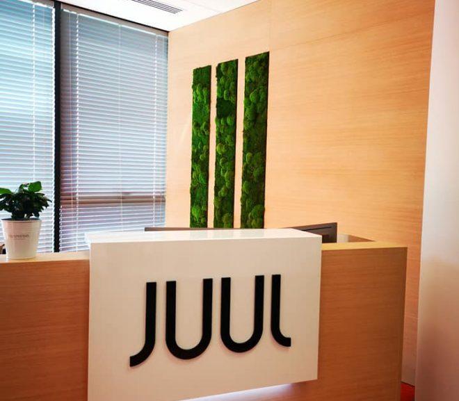 Recepcja JUUL – panele z mchu stabilizowanego